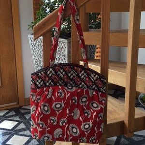 Vera Bradley red and black tote